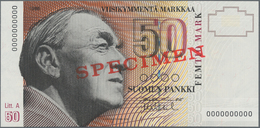 Finland / Finnland: Suomen Pankki / Finlands Bank 50 Markkaa 1986, Litt. A, With Signatures: Puntila - Finlandia