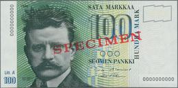 Finland / Finnland: Suomen Pankki / Finlands Bank 100 Markkaa 1986, Litt. A, With Signatures: Aleniu - Finlandia