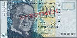 Finland / Finnland: Suomen Pankki / Finlands Bank 20 Markkaa 1993 With Signatures: Sorsa And Heinone - Finlandia