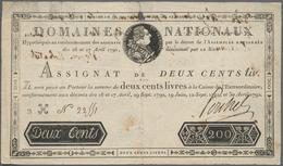 France / Frankreich: Domaines Nationaux 200 Livres Assignat Of The April 30th 1792 Issue, P.A59, Hig - 1955-1959 Sobrecargados (Nouveau Francs)