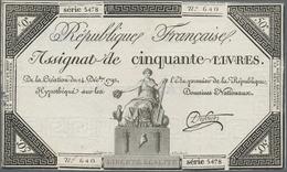 France / Frankreich: République Française Set With 3 Banknotes 50 Livres Assignat Of The December 14 - 1955-1959 Sobrecargados (Nouveau Francs)