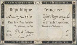 France / Frankreich: République Française Set With 4 Banknotes 125 Livres Assignat, Dated September - 1955-1959 Sobrecargados (Nouveau Francs)
