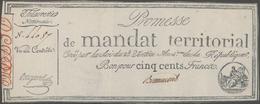 France / Frankreich: Trésorerie Nationale, Promesse De Mandat Territorial Pair Of The 500 Francs Ass - 1955-1959 Sobrecargados (Nouveau Francs)