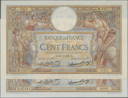 France / Frankreich: Banque De France Pair Of The 100 Francs 1929 (VF+/XF) And 1930 (XF/aUNC), P.78b - 1955-1959 Sobrecargados (Nouveau Francs)