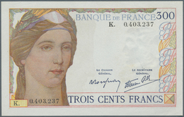 """France / Frankreich: 300 Francs ND(6.10.1938) Prefix """"K"""" P. 87, Fayette 29.1 Still Nice Condition Wi - 1955-1959 Sobrecargados (Nouveau Francs)"""