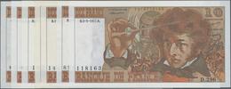 "France / Frankreich: Banque De France Set With 7 Banknotes 10 Francs 1974-77 ""Louis Hector Berlioz"", - 1955-1959 Sobrecargados (Nouveau Francs)"