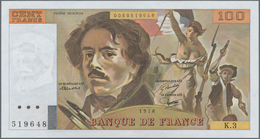 "France / Frankreich: Banque De France 100 Francs 1978 ""Ferdinand-Victor-Eugène Delacroix"", P.153 (Fa - 1955-1959 Sobrecargados (Nouveau Francs)"