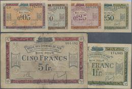 France / Frankreich: Very Nice Set With 12 Banknotes Comprising For The Régie Des Chemins De Fer Des - 1955-1959 Sobrecargados (Nouveau Francs)