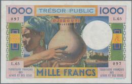 French Afars & Issas: Trésor Public - Territoire Français Des Afars Et Des Issas 1000 Francs ND(1973 - Banknotes