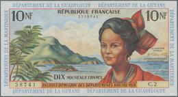 French Antilles / Französische Antillen: Institut D'Émission Des Départements D'Outre-Mer 10 Nouveau - Banknoten