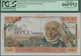 French Guiana / Französisch-Guayana: Caisse Centrale De La France D'Outre-Mer 5000 Francs ND(1947-49 - Frans-Guyana