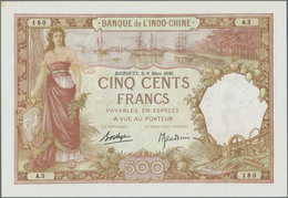French Somaliland / Französisch Somaliland: Banque De L'Indo-Chine 500 Francs March 8th 1938, P.9b, - Banknotes