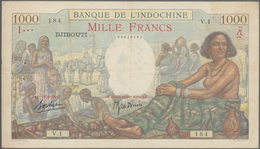 French Somaliland / Französisch Somaliland: Banque De L'Indochine - Djibouti 1000 Francs ND(1938), P - Banknotes