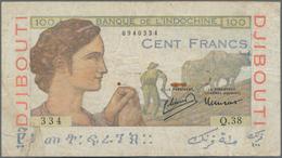 French Somaliland / Französisch Somaliland: Banque De L'Indochine 100 Francs ND(1946), P.19A, Lightl - Banknotes