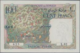French Somaliland / Französisch Somaliland: Trésor Public - Côte Française Des Somalis 100 Francs ND - Banknotes