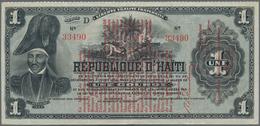 Haiti: Banque Nationale De La République D'Haïti 1 Gourde L.1916, P.137 Overprint On #131, Very Nice - Haiti