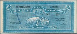 Haiti: Banque Nationale De La République D'Haïti Seldom Offered Pair With 5 And 100 Gourdes 1962 Of - Haiti