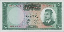 Iran: Bank Markazi Iran, Set With 13 Banknotes Of The SH1340 (1961) Series Comprising 2x Consecutive - Iran