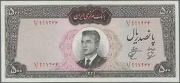 Iran: Bank Markazi Iran 500 Rials SH1341 (1962), P.74, Very Nice With Crisp Paper, Vertically Folded - Iran