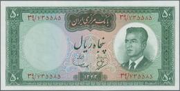 Iran: Bank Markazi Iran Set With 12 Banknotes Series SH1342 (1963) Till ND(1965) Comprising 50 Rials - Iran
