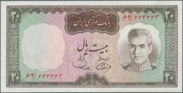 Iran: Bank Markazi Iran Nice Set With 9 Banknotes Series ND(1969) Comprising Consecutive Numbered Pa - Iran