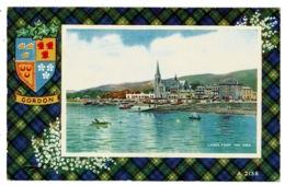 Ref 1357 -  1964 Postcard - Largs From The Pier - Scotland - Gordon Coat Of Arms & Tartan - Ayrshire