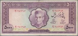 Iran: Bank Markazi Iran 5000 Rials ND(1971-72), P.95a, Still Nice Condition With Tiny Border Tears A - Iran