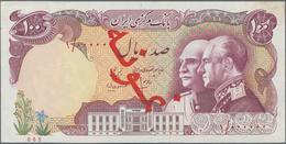 Iran: Bank Markazi Iran, 100 Rials ND (1976), 5th Anniversary Of Pahlavi Dynasty, P.108s, Specimen W - Irán