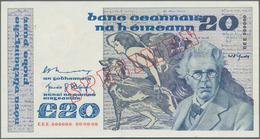 Ireland / Irland: Central Bank Of Ireland 20 Pounds 1980-92 SPECIMEN, P.73s, Almost Perfect Conditio - Irlanda