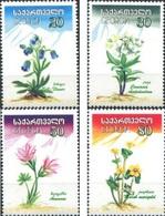 Georgia 2002, Flowers Of Caucasus, MNH Stamps Set - Georgië