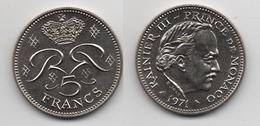 + MONACO + 5 FRANCS 1971 + TRES TRES BELLE + - 1960-2001 Nouveaux Francs