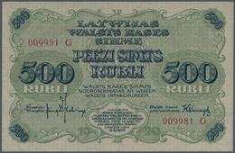 """Latvia / Lettland: Latwijas Walsts Kaşes 500 Rubli 1920, Series """"G"""" And Signatures: Kalnings & Vanag - Lettland"""