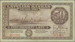 Latvia / Lettland: 50 Latu 1924, P.16a, Extraordinary Rare Banknote In Great Original Shape And Brig - Lettonie