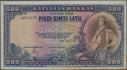 Latvia / Lettland: Latvijas Bankas 500 Latu 1929, P.19a, Still Nice With Lightly Toned Paper And Som - Lettonie