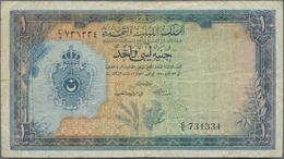 Lebanon / Libanon: United Kingdom Of Libya 1 Pound L.1951, P.9, Still Nice With Soft Paper, Some Sma - Libano