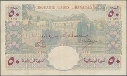 Lebanon / Libanon: Banque De Syrie Et Du Liban 50 Livres 1950, P.52, Very Nice Condition With A Few - Libano