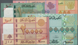 Lebanon / Libanon: Banque Du Liban, Very Nice And Rare SPECIMEN Set With 1000, 5000, 10.000, 20.000 - Libano
