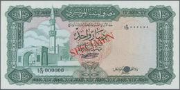 Libya / Libyen: Central Bank Of Libya 1 Dinar Color Trial SPECIMEN In Green Instead Of Blue Color, N - Libya