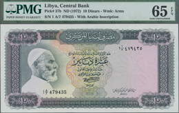 Libya / Libyen: Central Bank Of Libya 10 Dinars ND(1972) With Arabic Inscription At Lower Right, P.3 - Libya
