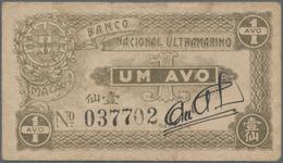 Macau / Macao: Banco Nacional Ultramarino 1 Avo ND(1942), P.13 In About F To F+ Condition. - Macau