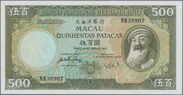 Macau / Macao: Banco Nacional Ultramarino, 500 Patacas 1984 With Signature Title At Left: Vice-Presi - Macau