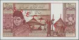 Mauritania / Mauretanien:  Banque Centrale De Mauritanie 200 Ouguiya 1973 SPECIMEN, P.2s In Perfect - Mauritanien