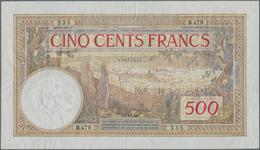 Morocco / Marokko: Banque D'État Du Maroc 500 Francs 1948, P.15b, Nice Original Shape With Crisp Pap - Marocco