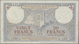 Morocco / Marokko: Banque D'État Du Maroc 20 Francs With Rare Date December 2nd 1931, P.18a, Still S - Morocco
