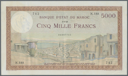 Morocco / Marokko: Banque D'État Du Maroc 5000 Francs 1949, P.23c, Excellent Condition With A Strong - Morocco