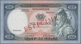 Mozambique: Banco Nacional Ultramarino – Mocambique 1000 Escudos 1972 SPECIMEN, P.112s In Perfect UN - Mozambique