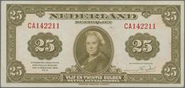 Netherlands / Niederlande: Muntbiljet 25 Gulden 1943, P.67, Excellent Condition With Very Soft Verti - Paises Bajos