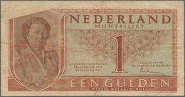 Netherlands / Niederlande: Very Nice Pair With 1 Gulden 1945 P.70 MISPRINT On Back (VG/F-) And 1 Gul - Netherlands