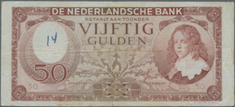 Netherlands / Niederlande: Set With 3 Banknotes 25 Gulden 1945 P.77 (F), 50 Gulden 1945 P.78 (F With - Netherlands