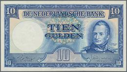 Netherlands / Niederlande: 10 Gulden 1949, P.83, Very Nice Condition With A Soft Vertical Bend At Ce - Netherlands